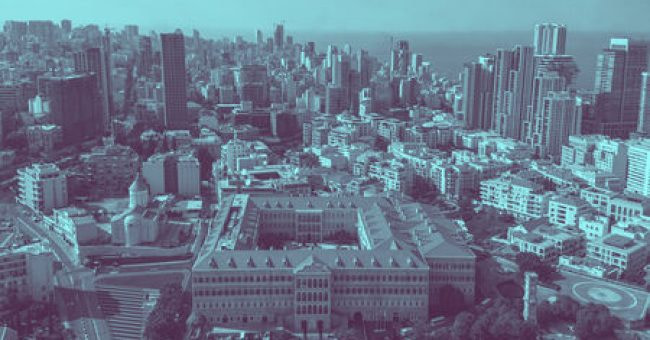 Aerial View of Beirut Lebanon, City of Beirut, Beirut cityscape;